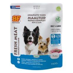 Vleesvoeding Kip & Lam portieverpakking - BF Petfood - Biofood - 30