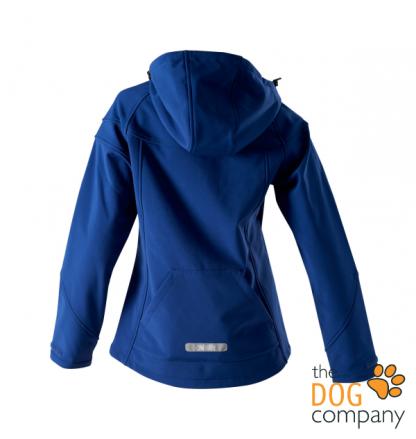 Owney Cerro Softshell damesjas blauw achterkant