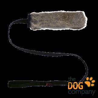 Chaser tug konijn met pieper - zwart