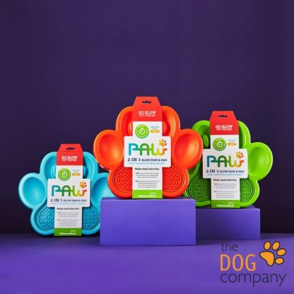 2-in-1 Slow Feeder & Lick Pad Paw