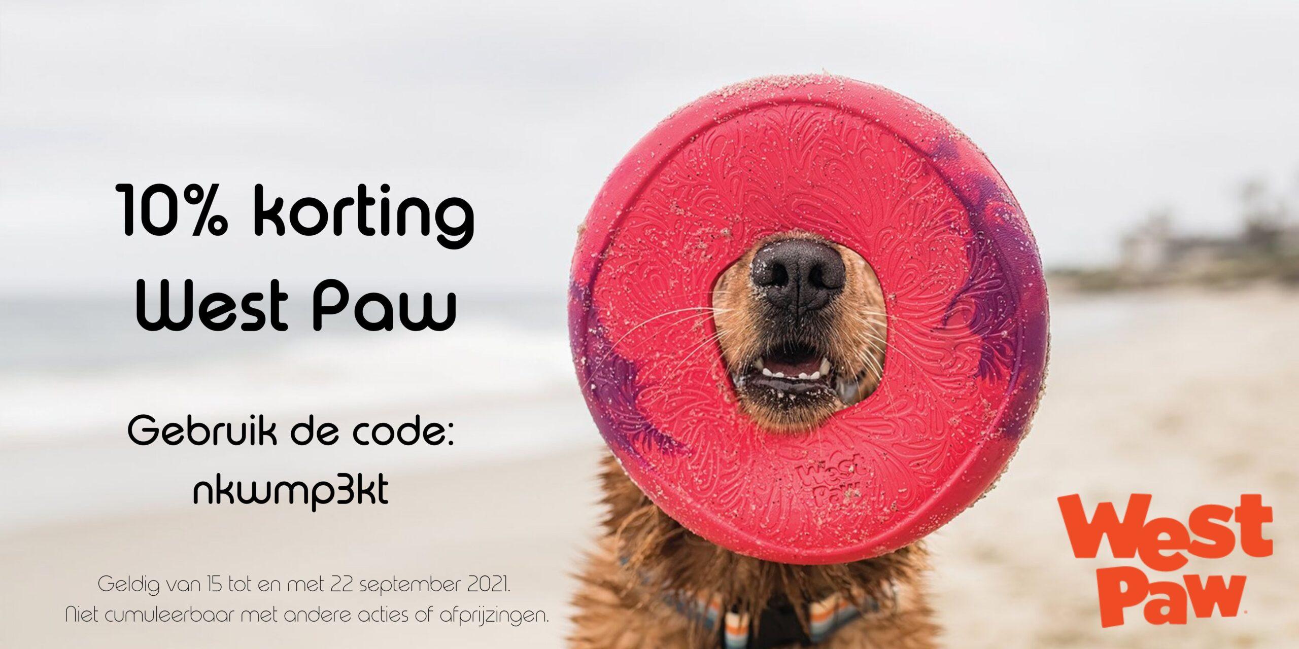 Korting op West Paw - banner website